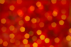 Fondo rosso dell'estratto di natale - bokeh Fotografia Stock