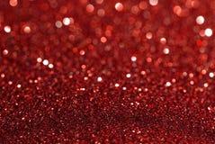 Fondo rosso dell'estratto di struttura di scintillio Immagine Stock
