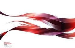 Fondo rosso dell'estratto di Wave della banda dell'inchiostro blu, fuoco di concetto, illustrazione di vettore Immagini Stock Libere da Diritti