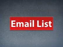 Fondo rosso dell'estratto dell'insegna della lista del email illustrazione di stock