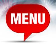 Fondo rosso della bolla del menu illustrazione vettoriale