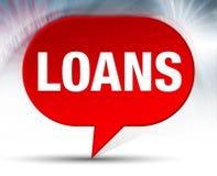 Fondo rosso della bolla di prestiti illustrazione vettoriale