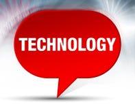Fondo rosso della bolla di tecnologia illustrazione vettoriale