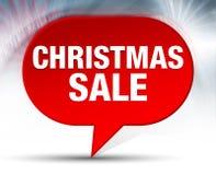 Fondo rosso della bolla di vendita di Natale royalty illustrazione gratis