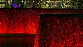 Fondo rosso della caratteristica dell'acqua del LED immagine stock libera da diritti