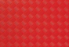 Fondo rosso della foto del piatto del diamante del metallo Fotografie Stock