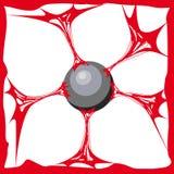 Fondo rosso della melma Melma realistica di struttura del fumetto La sostanza di Jelly The della colla è appiccicosa, la tensione illustrazione vettoriale