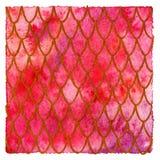 Fondo rosso della pelle del drago Fotografia Stock
