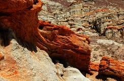 Fondo rosso della roccia Fotografia Stock