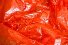 Fondo rosso della stagnola Fotografie Stock Libere da Diritti