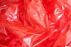 Fondo rosso della stagnola Fotografia Stock Libera da Diritti