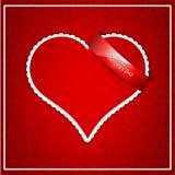 Fondo rosso di amore Fotografia Stock