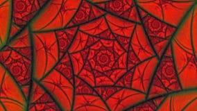 Fondo rosso di animazione del modello di fiore della ragnatela degli amanti video d archivio