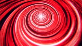Fondo rosso di animazione di vortice del filo di ordito di tempo dello spazio archivi video