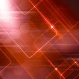 Fondo rosso di astrazione di Digital illustrazione vettoriale