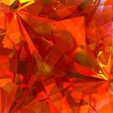 Fondo rosso di cristallo Fotografia Stock