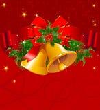 Fondo rosso di Natale illustrazione vettoriale