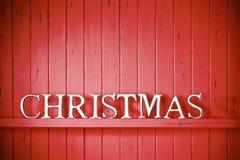 Fondo rosso di Natale Fotografie Stock Libere da Diritti