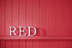 Fondo rosso di parola Fotografia Stock