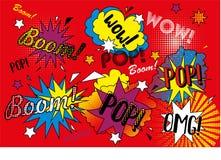Fondo rosso di Pop art Fotografia Stock Libera da Diritti