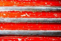 Fondo rosso di struttura della banda di lerciume Fotografia Stock