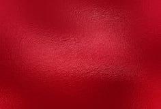 Fondo rosso di struttura della stagnola Fotografie Stock Libere da Diritti