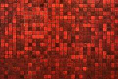 Fondo rosso di struttura di mosaico Fotografia Stock