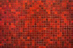 Fondo rosso di struttura di mosaico Fotografia Stock Libera da Diritti