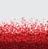 Fondo rosso di tecnologia astratta con il triangolo immagine stock
