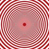 Fondo rosso di vettore e bianco concentrico degli elementi dei cerchi dei giri illustrazione vettoriale