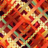 Fondo rosso diagonale del plaid Fotografie Stock Libere da Diritti