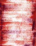 Fondo rosso dipinto di lerciume. Fotografia Stock
