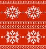 Fondo rosso e bianco tricottato di vettore Fotografie Stock Libere da Diritti