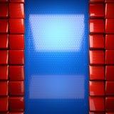 Fondo rosso e blu del metallo Fotografia Stock Libera da Diritti