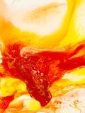 Fondo rosso e giallo di astrattismo, pittura di struttura Fotografie Stock