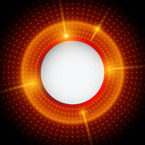 Fondo rosso e nero astratto con i cerchi Fotografie Stock