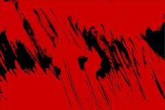 Fondo rosso e nero dei colpi del pennello illustrazione di stock