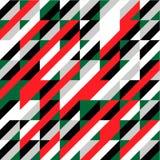 Fondo rosso e verde astratto per il festival di Natale Fotografie Stock