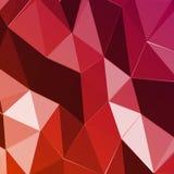 Fondo rosso geometrico astratto del triangolo. Vettore Fotografie Stock Libere da Diritti