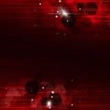 Fondo rosso geometrico di tecnologia Immagine Stock Libera da Diritti