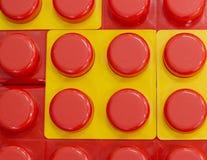 Fondo rosso giallo con i cerchi Immagini Stock