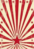 Fondo rosso granuloso della stella illustrazione di stock