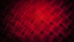 Fondo rosso molle astratto con i rettangoli leggeri Fotografia Stock Libera da Diritti