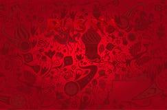 Fondo rosso russo, illustrazione di vettore Fotografie Stock