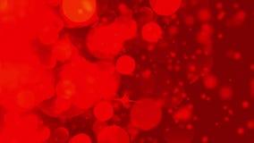 Fondo rosso scuro astratto con le luci defocused del bokeh illustrazione vettoriale