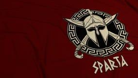 Fondo rosso scuro di Sparta royalty illustrazione gratis