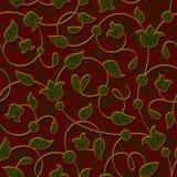 Fondo rosso scuro floreale senza cuciture del modello del damasco Fotografia Stock Libera da Diritti