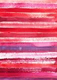 Fondo rosso totale dell'acquerello Immagini Stock Libere da Diritti