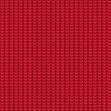 Fondo rosso tricottato della lana, illustrazione Fotografia Stock