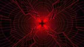 fondo rosso V3 di moto di Loopable del tunnel di Digital di fantascienza 3D illustrazione di stock